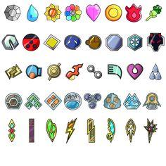All Pokemon Badges through Black and White (Minus Orange League)