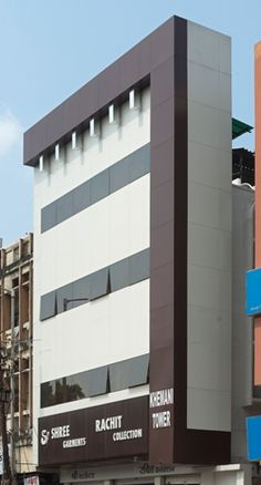 #Commercial #Project Khemani Tower in #Nagpur , Maharashtra use #Aludecor Sandwich Panels for #building #Facade .