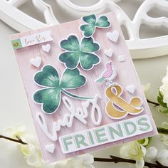 Cards For Friends, Friend Cards, Spellbinders Cards, Card Making Kits, Unique Cards, Hero Arts, Card Kit, Photo Tutorial, Clear Stamps