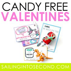 Create your own candy-free Valentine's Day cards with this FREE downloadable template!