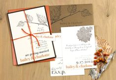 Love Cycle  Eco  Friendly Fall Wedding Invitations by BeaconLane, $100.00