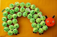 Hungry Little Caterpillar birthday cupcakes by Coco Cake Cupcakes