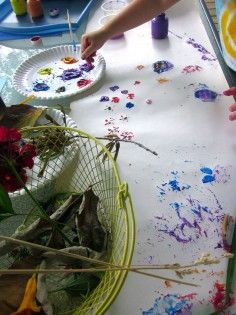 backyard painting with nature #weteach