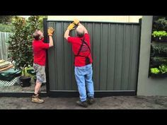 How To Install Colorbond Fence Panels Diy At Bunnings Youtube Fence Panels Metal Fence Panels Wooden Fence