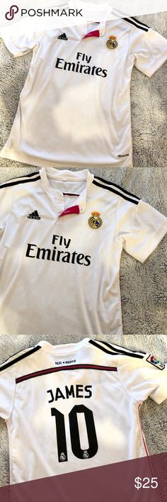 Fly Emirates Jersey - Real Madrid ✨In great condition ✨James ✨Size Small adidas  Shirts Tees - Short Sleeve 24e5d71fd