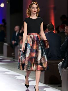 NEW ROMANTIC Evoke the elegance of times gone by with the softly structured silhouette of a full skirt. Ted's standout styles come blooming with romantic prints and gentle pleats. Frothy, feminine and with unlimited pairing potential, look no further for a touch of the glamour of yesteryear.  http://www.tedbaker.com/us/Editorial/Womens/aw15_style_report?int_cmpid=w_editorial_aw15stylereport_style15_us_