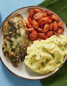 Easy chicken recipe with mashed potatoes and roasted carrots | More recipes on www.HelloFresh.com