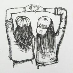 Best friend drawings best friend drawings best friends drawing drawing a 3 4 d best friend . Best Friend Sketches, Friends Sketch, Best Friend Drawings, Tumblr Drawings, Girly Drawings, Pencil Art Drawings, Drawing Sketches, Drawing Drawing, Bff Pics