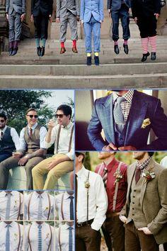 blog post: Mismatched Wedding Trend - Groomsmen  http://blog.fabulousplaces.co.uk/