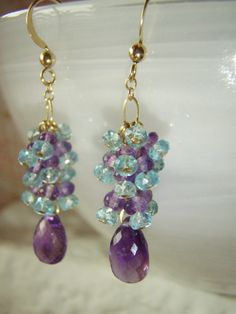 SALE ENDS 9th APRIL Gemstone earrings with by oneoffcreations, $48.00