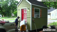 Homeless Man Jumps for Joy Over New Tiny House - Infinity Village is the first of its kind in Nashville, joining a national trend of homeless housing solutions through micro-home villages. : USA TODAY - 27 Aug 2015