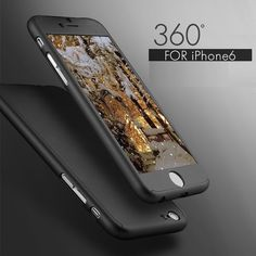 프리미엄 모든 360 case 대한 iphone 7 7 plus 6 6 초 플러스 iphone7 전체 바디 case 하드 커버 고무 매트 코팅 + 강화 유리