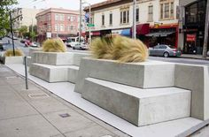 Parklet in front of the Delfina restaurant, Pacific Heights, San Francisco by Siol Studios. Click image for details and visit the slowottawa.ca boards >> http://www.pinterest.com/slowottawa/