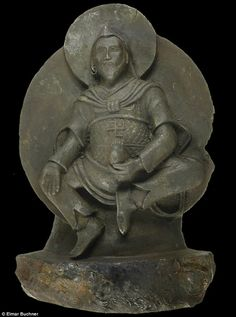 The Buddhist statue first found by a Nazi expedition in 1938. New analysis has found it is made from a meteorite.