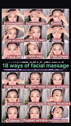 Face Yoga Exercises, Jowl Exercises, Facial Yoga, Acne Facial, Face Wrinkles, Too Faced, Face Skin Care, Homemade Skin Care, Homemade Face Masks