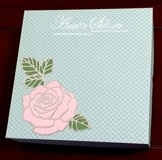 Lavender Thoughts | Annette Sullivan | Stampin' Up! Rose Garden Pirouette Wasabi Island Party Gift Box