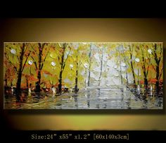 Original Palette Knife Abstract PaintingModern by xiangwuchen, $368.00