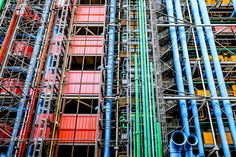 """Exposed pipes on the exterior of Centre Georges Pompidou, Paris, France.  See more photos from the streets of Paris and order prints at <a href=""""http://www.jasonwaltman.com/galleries/20130523-Paris/"""">jasonwaltman.com</a>."""