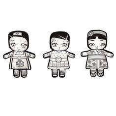 Puppen nähen aus Tyvek und bemalen lassen