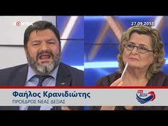27.9.2018 - Ο Φαήλος Κρανιδώτης αποδομεί την αριστερά στο KONTRA TV - YouTube Youtube, Youtubers, Youtube Movies