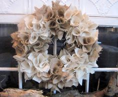 Fabric Wreath tutorial  - burlap, fleece, holiday fabrics, etc.  Add glitter to make it sparkle.