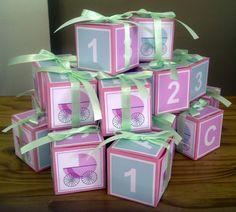 ABC123 Block Baby Shower Favour Boxes