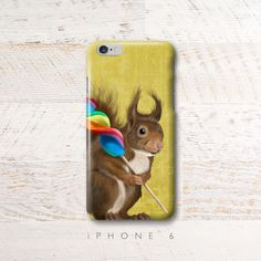 Squirrel with lollipop iPhone 6 case iphone 6 plus by SparaFuori