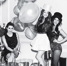 Kourtney, Kim, & Khloé Kardashian - Glamour