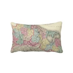 Vintage Map of Holland and Belgium (1856) Throw Pillow from Zazzle.com $52.00