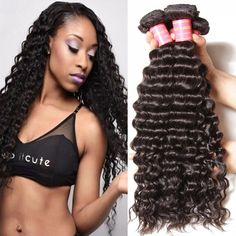 Longqi Brazilian Deep Wave Extensions 6a Unprocessed Virgin Deep Curly Weave 3 Bundles Remy Human Hair (18 20 22inch, Natural Color) * Startling review available here  : Hair Loss