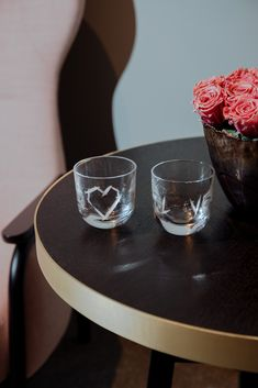 Pink collection   Handmade crystal glass Love & Heart hand-cut. Designed by Rony Plesl. Rückl Contemporary Forest Wedding, Contemporary, Modern, Random Stuff, Pink, Vase, Crystals, Heart, Tableware