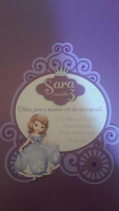 Invitación princesa Sofia