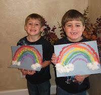 Torn Paper Rainbow Craft for St. Patrick's Day