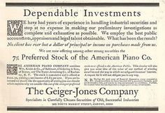 Geiger Jones Company Canton Ohio Stock Investments Industrial Securities 1908 AD