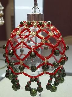 Pearl Droplets Christmas Ornament PDF Beading by offthebeadedpath, $8.00