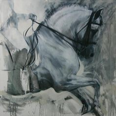 Sally Martin equine art horse dressage oil painting. Love this- so gorgeous.
