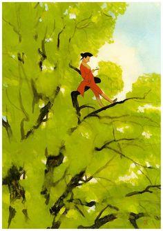 La copertina de Il barone rampante, edito da Folio junior, disegnata da Manuele Fior.