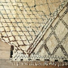 As expensive as these cool Beni Ouarain rugs from West Elm are, they're actually a good deal. I usually see them for between $ 5,000-7,500. Just picked up one for my home office!