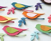 DIY bird on a branch kit - pack of 25 - your colors choices