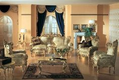We carry the Finest Italian Furniture. Our Italian Furniture Showroom has Beautiful Italian Living Room Sets. Luxury Italian Furniture, Luxury Home Furniture, Living Room Furniture, Living Room Decor, Classic Furniture, Sofa Furniture, Luxury Interior, Interior Design, Furniture Sets