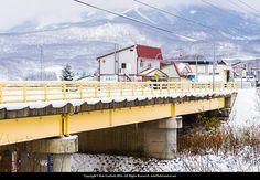 Winter bridge and Mt Annupuri