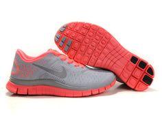 Nike Womens Shoes Nike Free 4.0 V2 Pink-Gray  $59.00