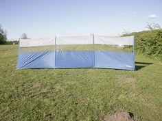 Kampa Break Standard Windbreak review - With its panoramic clear window and cheerful blue base, the Kampa Break has pitch appeal (© Practical Motorhome/James Stanbury)