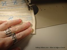 How to Edge a Corset » By Sidney Eileen