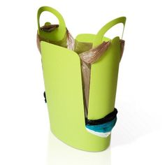 Urbano trash bin by Kevin McElroy. Uses your grocery-store plastic bags as trash bags. Green Waste Bin, Next Bags, Plastic Grocery Bags, Trash Bins, Reuse, Ugg Boots, Recycling, Clutter, Design