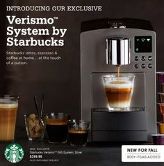 I just decided that I need one of these. Starbucks, Drip Coffee Maker, Espresso, Latte, Kitchen Appliances, My Favorite Things, Html, Espresso Coffee, Diy Kitchen Appliances