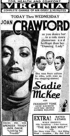 Joan Crawford as Sadie McKee (1934)