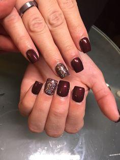 Acrylic overlay on natural nails