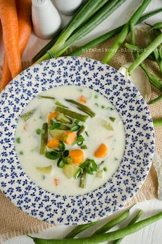 Finnish Summer Soup with loads of veggies. Yummy!