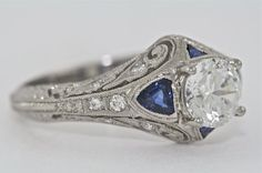 Another Fave- not vintage but customizable- Platinum Diamond and Sapphires Edwardian by MasterPieceJewelers
